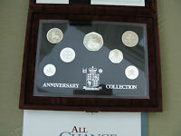 1996 ROYAL MINT SILVER 'PROOF' COLLECTION.. 25TH ANNIVERSARY OF DECIMALS  CASED