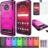 For Motorola Moto Z2 Force/Z3 Z2 Play Case Cover Tempered Glass Screen Protector