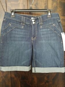 "WHITE HOUSE BLACK MARKET SHORTS SIZE 8 ""NOIR"" NWT ""STRAIGHT FIT"""