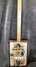 Home-Made Cigar Box Style Three String Electric Guitar