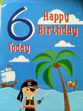 Boy's 6th Birthday Card...Pirate