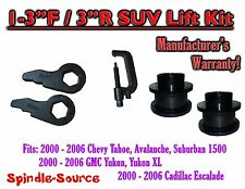 "2000 -06 Chevrolet GMC 1500 1-3"" / 3"" Torsion Key Lift Chevy 00-06 Spacer + TOOL"