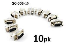 10-PACK VGA, SVGA HD15 Male/Male Gender Changer Coupler Video Adapter, GC-005