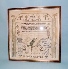 English Sampler. Dated 1833. The Lord's Prayer. Worked by Mary Ann aged 10.
