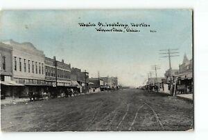 Waurika Oklahoma OK Postcard 1910 Main Street Looking North