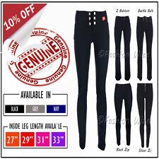Girls School Trouser Ladies Work Smart Office Black Size 4 6 8 10 12 14 16
