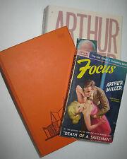 ARTHUR MILLER 3 first editions: Death of a Salesman 1949, Focus 1950, Timebends