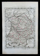 1648 France Aquitanien Aquitaine Bordeaux Grenzkolorierte Kupfer-Landkarte