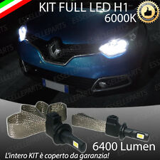 kIT FULL LED RENAULT CAPTUR LAMPADE LED H1 6000K XENON BIANCO NO AVARIA 6400 LM