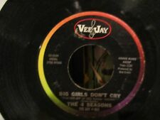 THE 4 SEASONS-BIG GIRLS DON'T CRY AND CONNIE-O-ORIG PRESS-VJ-VG+
