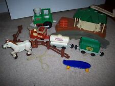 Vintage Kid Power Crank Fisher Price Train #2320 Toy Train Husky Rodeo Toy Lot