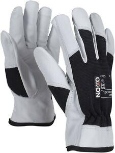 OX-ON Stone Arbeitshandschuhe weiche Lederhandschuhe mit Spandexrücken Gr. 7-12