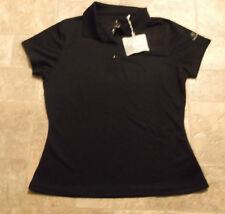 Ladies NANCY LOPEZ  Black Polo Short-Sleeved Golf Shirt-Desert Dry NWT Size S