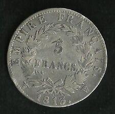 5 Francs Argent Napoleon 1er 1813 W