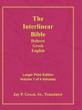 Interlinear Hebrew Greek English Bible, Volume 1 Of 4 Volumes, Larger Print, ...
