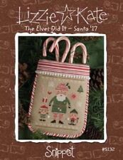 10% Off Lizzie Kate counted x-stitch chart - The Elves Did It - Santa '17