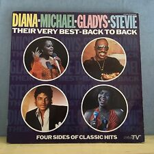 DIANA MICHAEL GLADYS STEVIE Their Very Best Back To Back 1986  Double Vinyl LP A