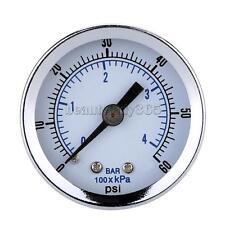 Black Mini Dial Pressure Gauge Manometer Water Air Oil 0-60psi 0-4bar