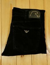 Armani Jeans Moleskin Style Trousers W 31 R 20 Year Anniversary Edition