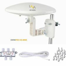 Refurbished LAVA HD8000 Omni directional TV Antenna HD TV 4K 360 Degree with KIT