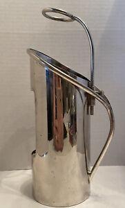 Vintage Elegance Silver Plated on Brass Wine Caddy Bottle Holder Adjustable