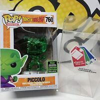 Funko Pop Dragon Ball Z Piccolo Green Chrome ECCC 2020 + Pop Protector