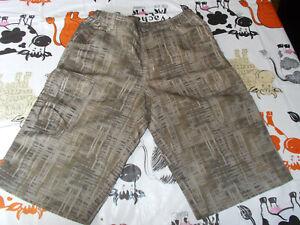 Short bermuda randonnée MC KINLEY 164 14 ans  polyester marron  dry plus 19ET7