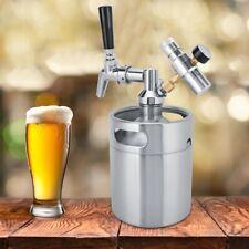 2L Edelstahl Fass Bier Growler Keg Homebrew Mini Bierfass Bierzapfanlage Kit