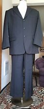 "GREAT GIORGIO CERRUTI Black Stripe Suit/JACKET MILANO - ITALY ""Size 44R"""