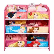 DISNEY PRINCESS 6 BIN MULTI STORAGE UNIT ORGANISER GIRLS PLAYROOM