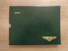 Bentley Azure Owners Handbook Manual Wallet (Slip Case)