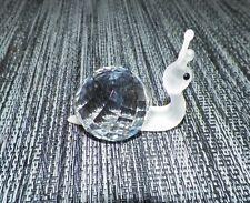 "Swarovski Crystal Small Snail Figurine 2"" Long Swan Logo"