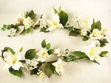 Large Artificial Flowers Hand Wrapped Lily Rose Garland Vintage Decorations