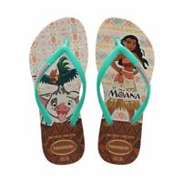 Havaianas Slim Kids Disney Moana Pig Heihei Rooster Rubber Flip Flops All Sizes