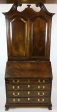 Maitland Smith Mahogany Chippendale Secretary Desk Williamsburg Style