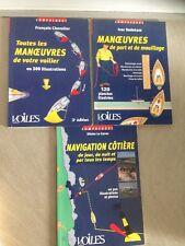 CHEVALIER /3 tomes/ MANEUVRES de votre voilier , de port ,mouillage,navigation
