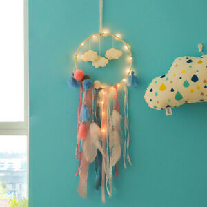 Large Dream Catcher LED Light Up Dreamcatcher Feather Bedroom Wall Hanging Decor