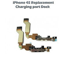 Replacement Charging Port Dock Connector Flex Cable with Mic for Iphone 4S Black