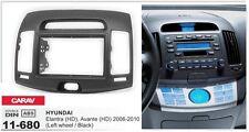 CARAV 11-680 2-DIN Car Dash Kit for Elantra (HD), Avante (HD) 2006-2010 LW Black
