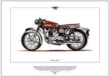NORTON ATLAS - Motorrad Kunstdruck - 650cc 1962-68 Klassisches Motorrad bild