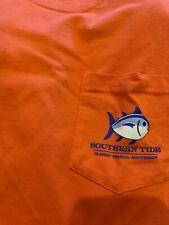 NWT SOUTHERN TIDE SZ L Men's Kentucky Skipjack Pocket T-Shirt Hot Coral