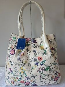 Vershe* Gorgeous Milleni handbag, tote, cream floral with butterflies, NWT