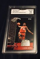 LEBRON JAMES GRADED GEM MINT 10 2004 UPPER DECK NATIONAL LAKERS #UD7 Basketball