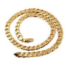 "110 G Heavy Men's 24k gold filled necklace 24""  13MM Curb chain HUGE SALE ! 1pcs"