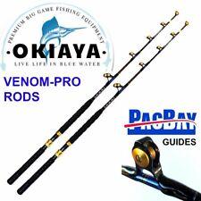 Okiaya Standup Trolling Rods 80-130Lb(2Pack)Venom-Pro Carbon Blank/Pac Bay Guide