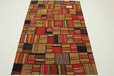 Vintage Patchwork Orient Tapis Kelim à la mode 250x170 élégant rouge multicolore