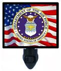 US Military Decorative Photo Night Light, Air Force, Patriotic