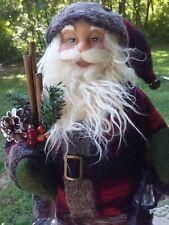 "Santa Claus Figure W/ Lantern 18"" Standing Christmas Holiday Home Decor St Nick"