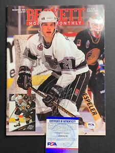 Luc Robitaille LA Kings Signed Autograph SI Sports Illustrated PSA DNA *78