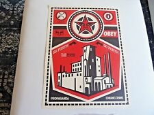 NEW 2009 Obey Giant X LEVIS Shepard Fairey OBEY FACTORY Art Print 18 x 24